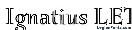 Ignatius LET Plain.1.0 Font, Serif Fonts