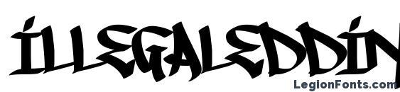 Шрифт IllegalEdding