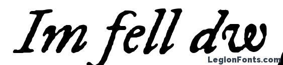 Im fell dw pica italic Font
