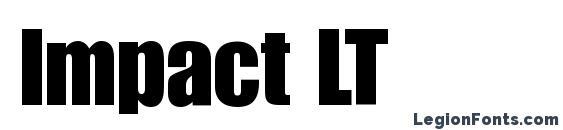 Impact LT Font, Typography Fonts