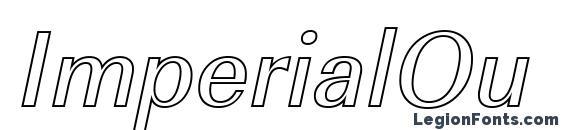 ImperialOu Italic font, free ImperialOu Italic font, preview ImperialOu Italic font