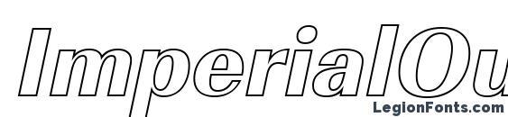 Шрифт ImperialOu Xbold Italic
