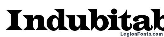 Шрифт Indubitably