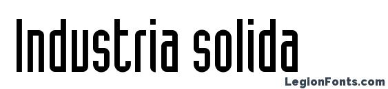 Шрифт Industria solida