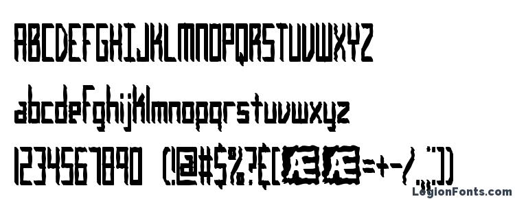 глифы шрифта Inevitable BRK, символы шрифта Inevitable BRK, символьная карта шрифта Inevitable BRK, предварительный просмотр шрифта Inevitable BRK, алфавит шрифта Inevitable BRK, шрифт Inevitable BRK