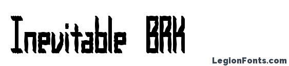 шрифт Inevitable BRK, бесплатный шрифт Inevitable BRK, предварительный просмотр шрифта Inevitable BRK