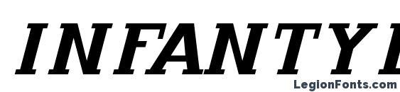 Шрифт Infantylitalic