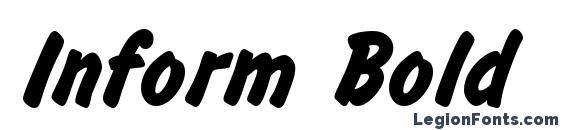 Шрифт Inform Bold