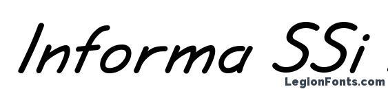 Informa SSi Bold Italic Font