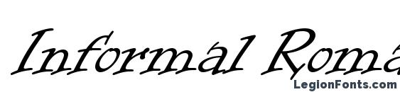 Informal Roman LET Plain.1.0 Font, Medieval Fonts