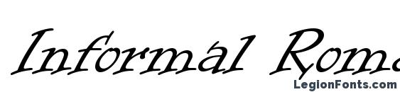 Informal Roman Font, Tattoo Fonts