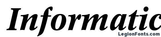 Informatics SSi Bold Italic Font