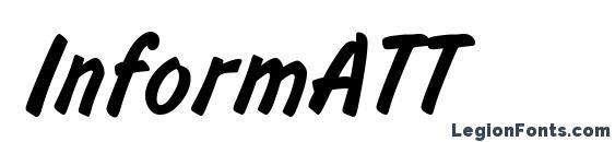 шрифт InformATT, бесплатный шрифт InformATT, предварительный просмотр шрифта InformATT