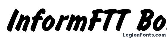Шрифт InformFTT Bold