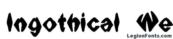 Ingothical Weird Solid Font