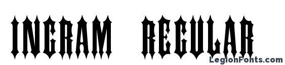 INGRAM Regular Font, Medieval Fonts