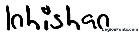 Шрифт Inhishan