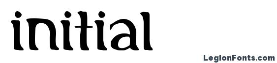 Initial font, free Initial font, preview Initial font