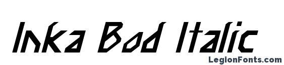 Inka Bod Italic Font