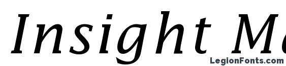 Insight Math Extension SSi Alternate Extension Font