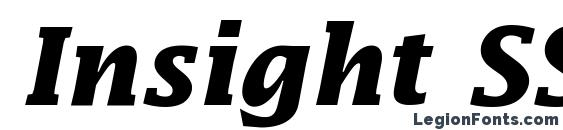 Insight SSi Bold Italic Font