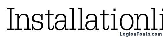 Installationlightssk bold Font, Serif Fonts