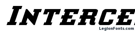 шрифт Interceptor Bold Italic, бесплатный шрифт Interceptor Bold Italic, предварительный просмотр шрифта Interceptor Bold Italic