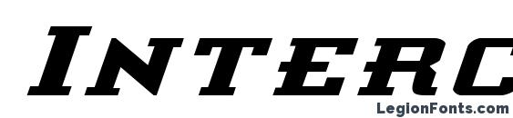 шрифт Interceptor Expanded Italic, бесплатный шрифт Interceptor Expanded Italic, предварительный просмотр шрифта Interceptor Expanded Italic
