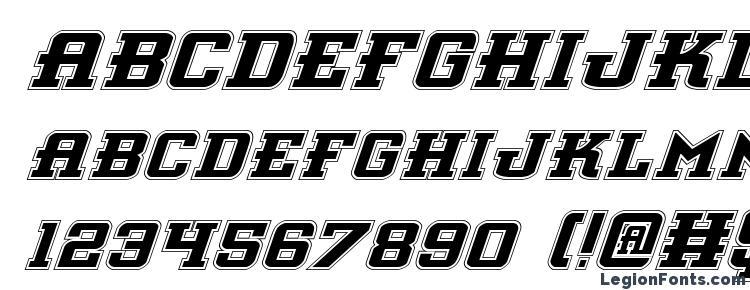 глифы шрифта Interceptor Pro Italic, символы шрифта Interceptor Pro Italic, символьная карта шрифта Interceptor Pro Italic, предварительный просмотр шрифта Interceptor Pro Italic, алфавит шрифта Interceptor Pro Italic, шрифт Interceptor Pro Italic
