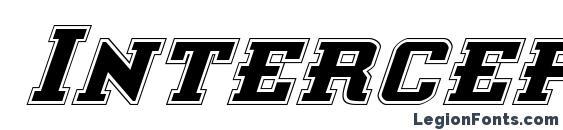 Interceptor Pro Italic font, free Interceptor Pro Italic font, preview Interceptor Pro Italic font