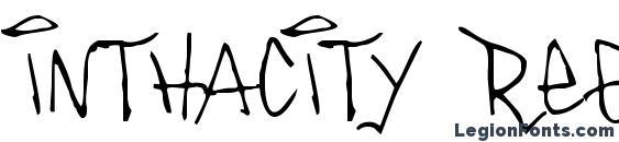 Шрифт Inthacity Regular