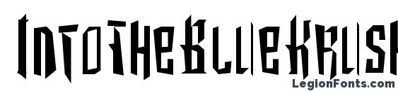 IntoTheBlueKrush Font