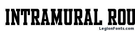 Intramural Roundstroke JL font, free Intramural Roundstroke JL font, preview Intramural Roundstroke JL font