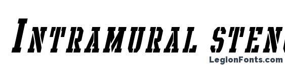 Шрифт Intramural stencil it. sc jl