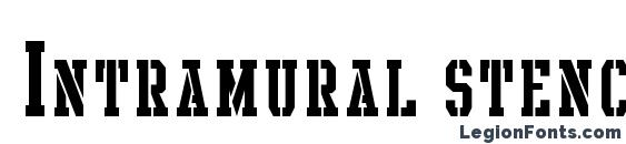 Шрифт Intramural stencil sc jl
