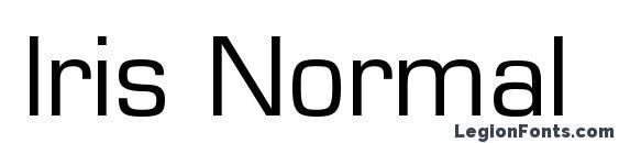 Iris Normal Font
