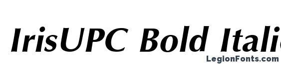 Шрифт IrisUPC Bold Italic