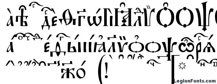 глифы шрифта Irmologion kUcs, символы шрифта Irmologion kUcs, символьная карта шрифта Irmologion kUcs, предварительный просмотр шрифта Irmologion kUcs, алфавит шрифта Irmologion kUcs, шрифт Irmologion kUcs