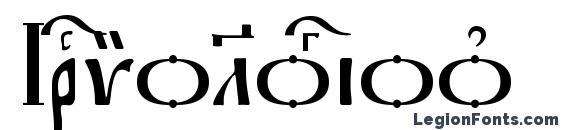 Irmologion kUcs font, free Irmologion kUcs font, preview Irmologion kUcs font