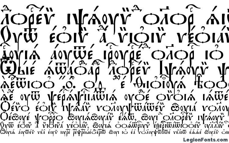 образцы шрифта Irmologion Ucs, образец шрифта Irmologion Ucs, пример написания шрифта Irmologion Ucs, просмотр шрифта Irmologion Ucs, предосмотр шрифта Irmologion Ucs, шрифт Irmologion Ucs