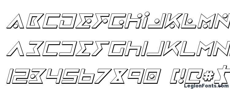 glyphs Iron Cobra 3D Italic font, сharacters Iron Cobra 3D Italic font, symbols Iron Cobra 3D Italic font, character map Iron Cobra 3D Italic font, preview Iron Cobra 3D Italic font, abc Iron Cobra 3D Italic font, Iron Cobra 3D Italic font