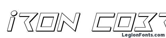 Iron Cobra 3D Italic Font