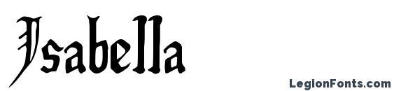 шрифт Isabella, бесплатный шрифт Isabella, предварительный просмотр шрифта Isabella