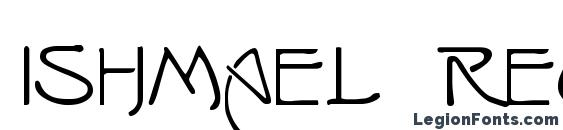 ISHMAEL Regular Font, Lettering Fonts