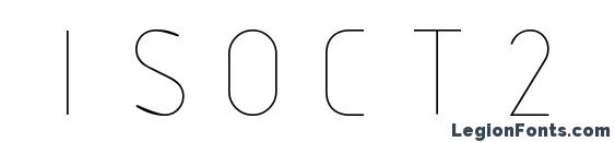 ISOCT2 font, free ISOCT2 font, preview ISOCT2 font