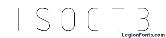 ISOCT3 font, free ISOCT3 font, preview ISOCT3 font