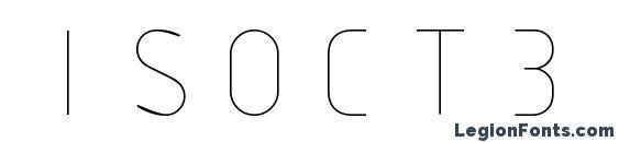 ISOCT3 Font