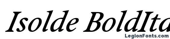 Isolde BoldItalic Font, Cool Fonts