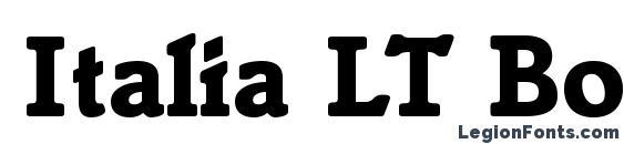 Italia LT Bold Font