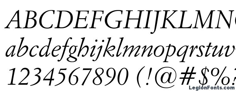 glyphs Italian Garamond Italic BT font, сharacters Italian Garamond Italic BT font, symbols Italian Garamond Italic BT font, character map Italian Garamond Italic BT font, preview Italian Garamond Italic BT font, abc Italian Garamond Italic BT font, Italian Garamond Italic BT font